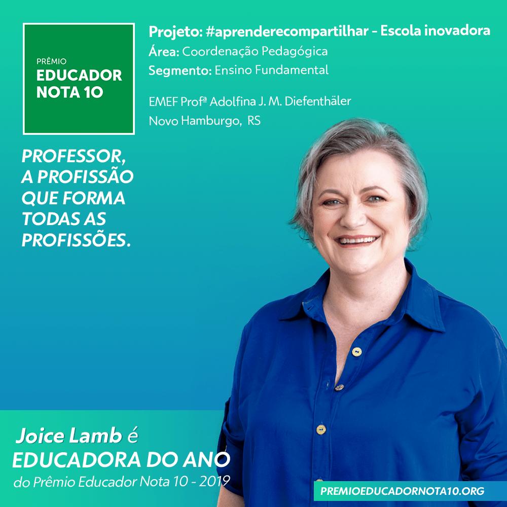 Educador-Nota-10-Educadora-do-Ano-Joice-Lamb